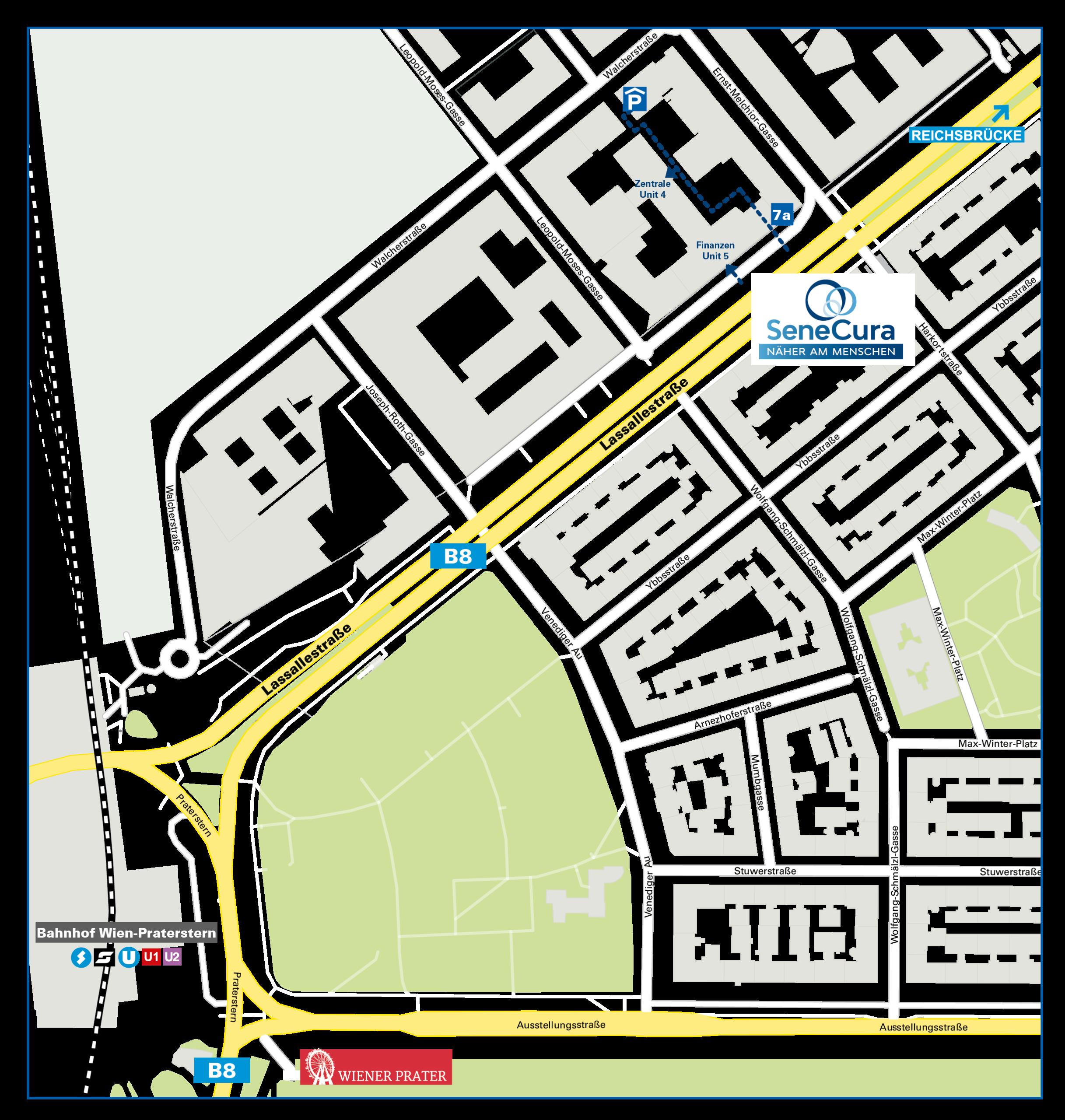 SeneCura_Lassallestraße_Plan